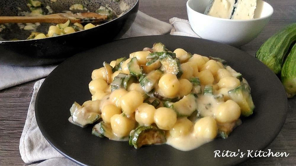 gnocchetti al gorgonzola e zucchine