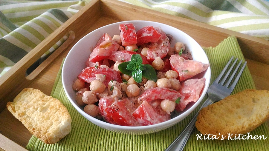 insalata di pomodori e ceci