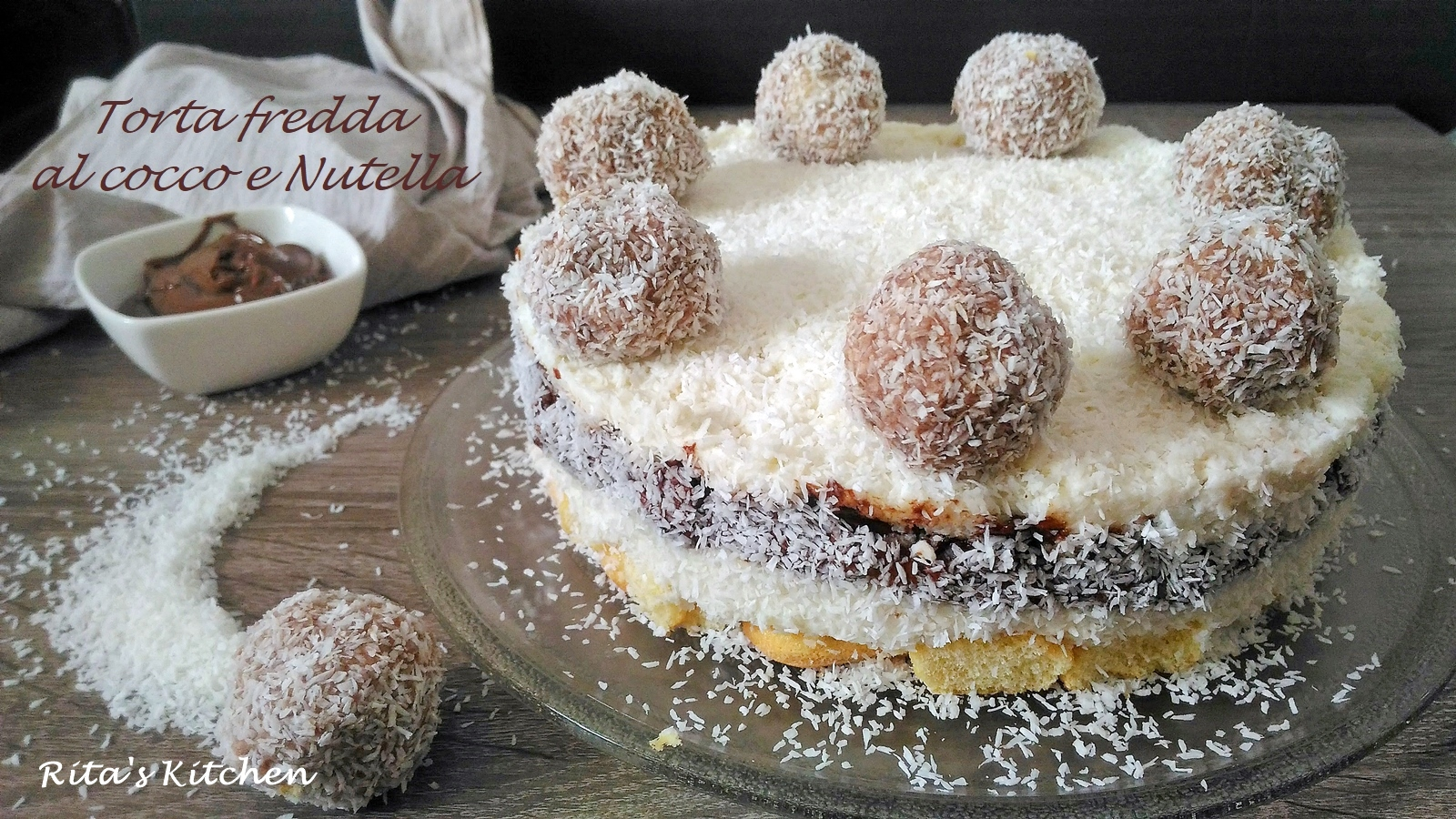torta fredda al cocco e nutella