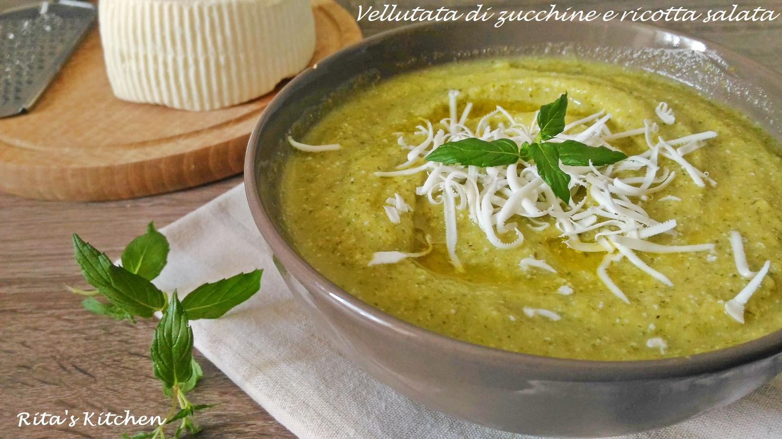 vellutata di zucchine e ricotta salata