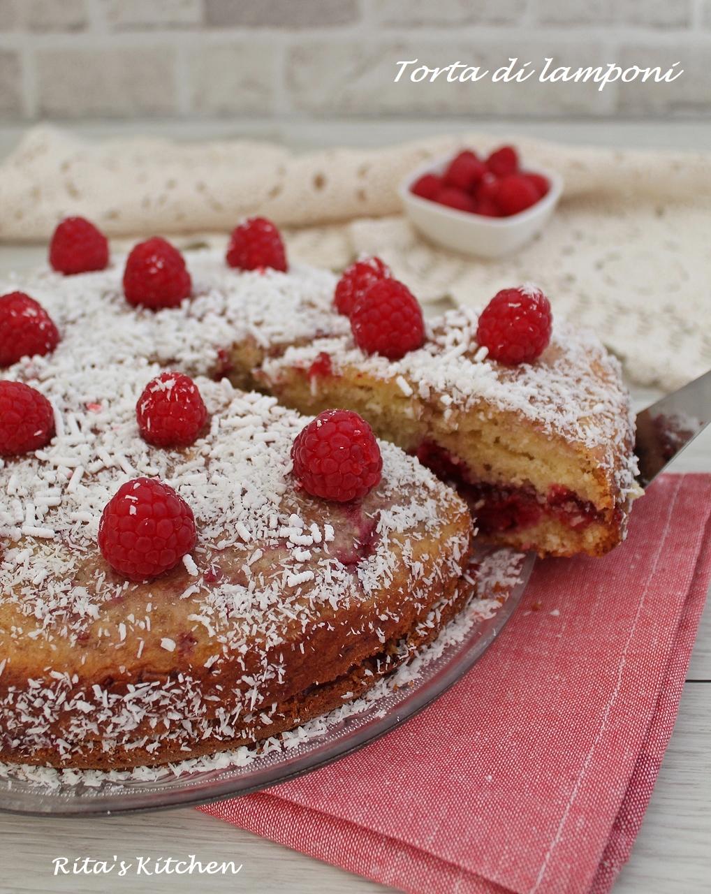 torta di lamponi