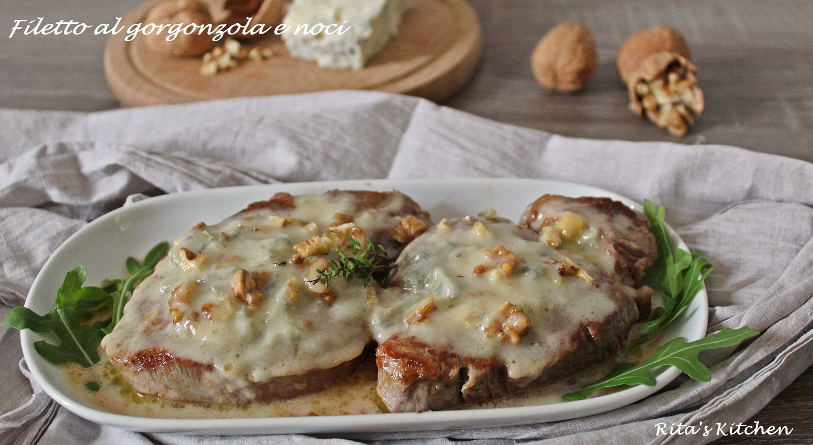 filetto al gorgonzola e noci