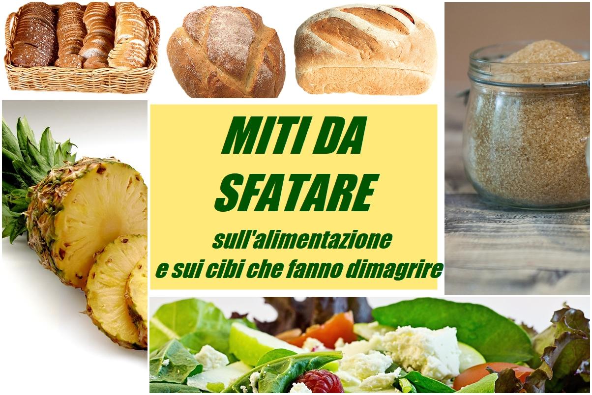 miti da sfatare sull'alimentazione