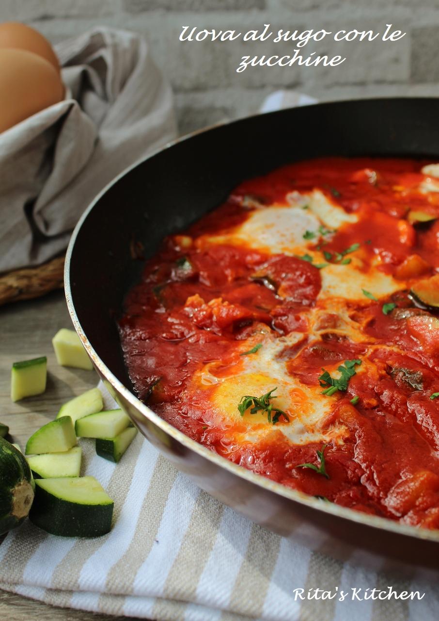 uova in purgatorio con le zucchine