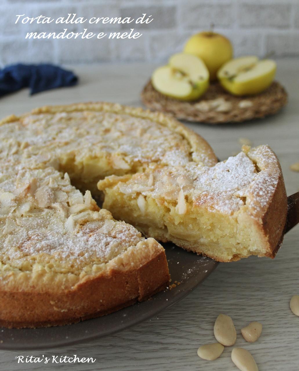 torta alla crema di mandorle e mele