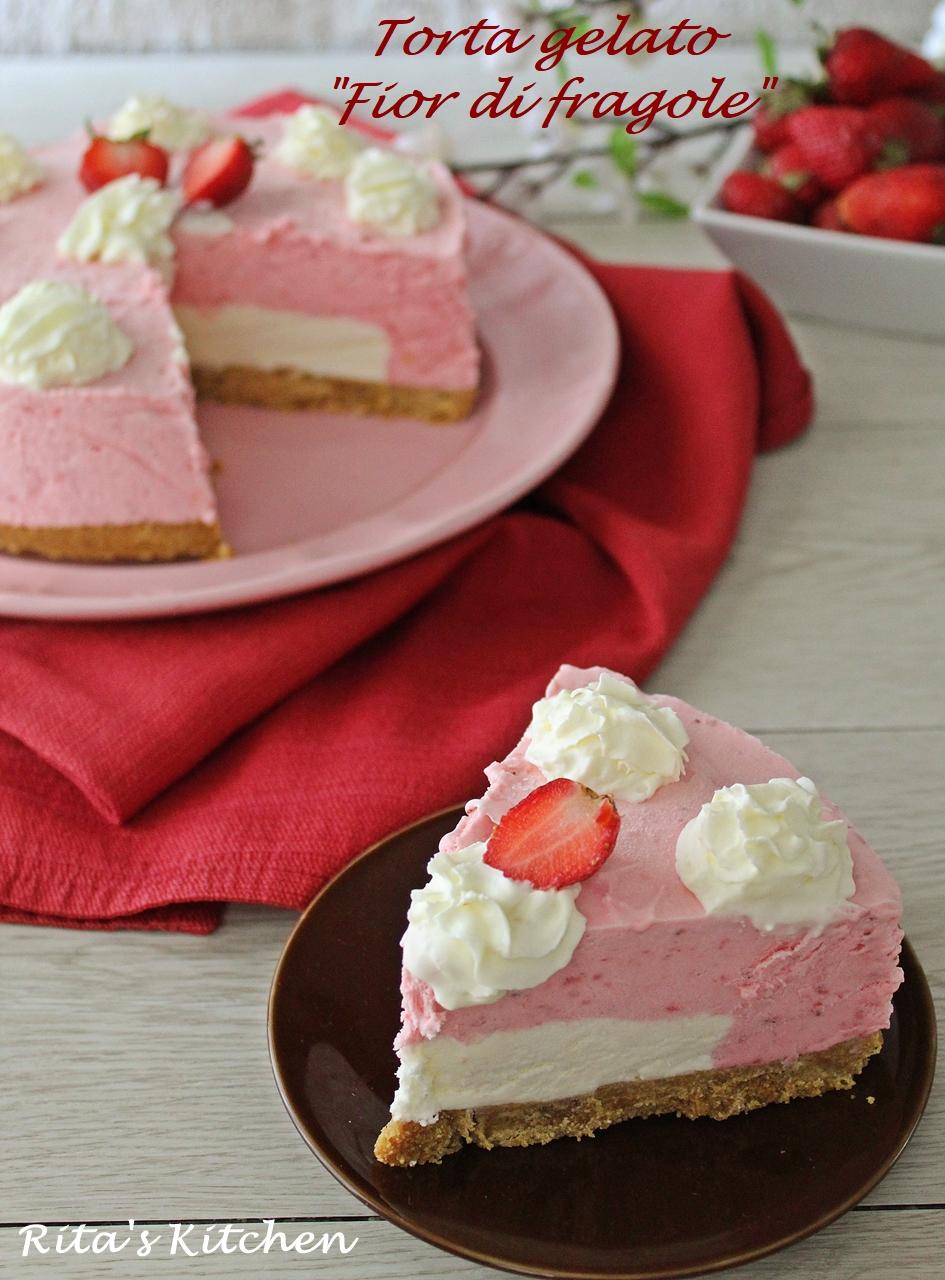 torta gelato fior di fragole