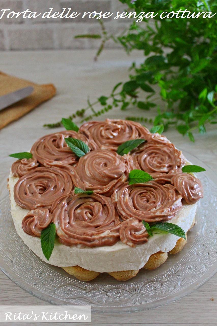 torta delle rose senza cottura