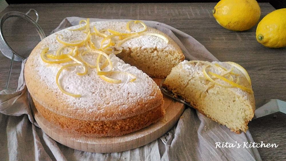 torta al limone e mandorle senza glutine e latte