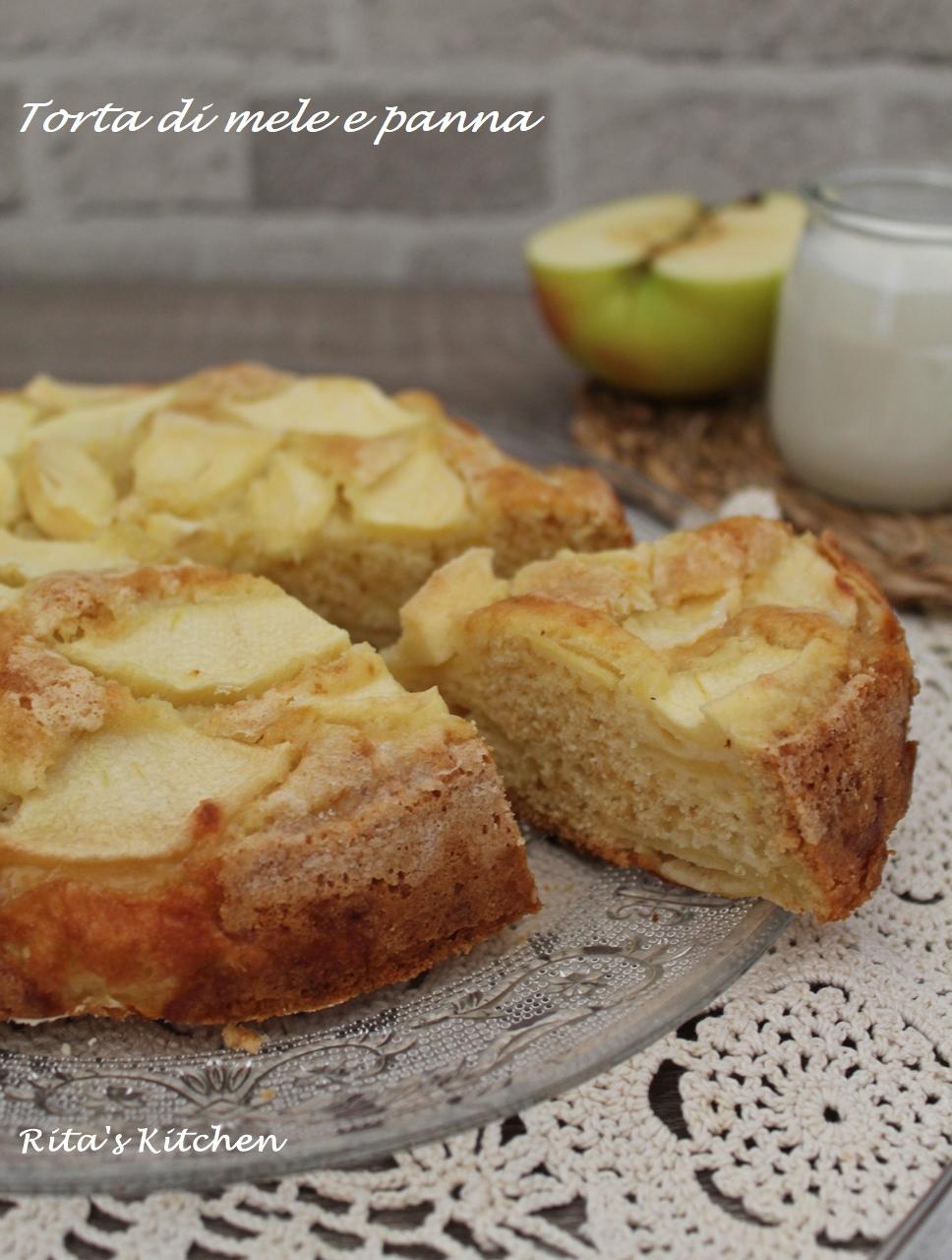 torta di mele e panna