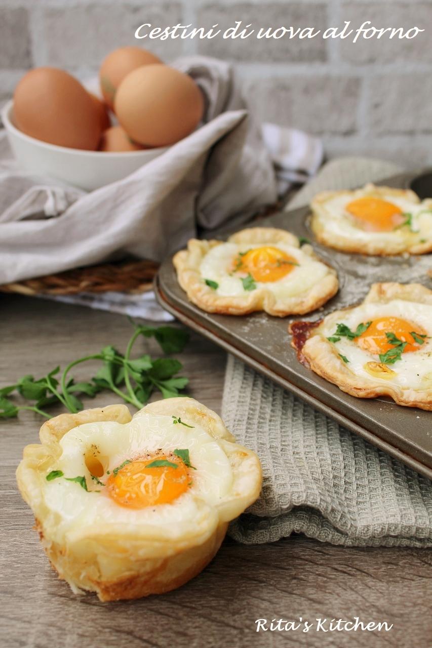 cestini di uova al forno