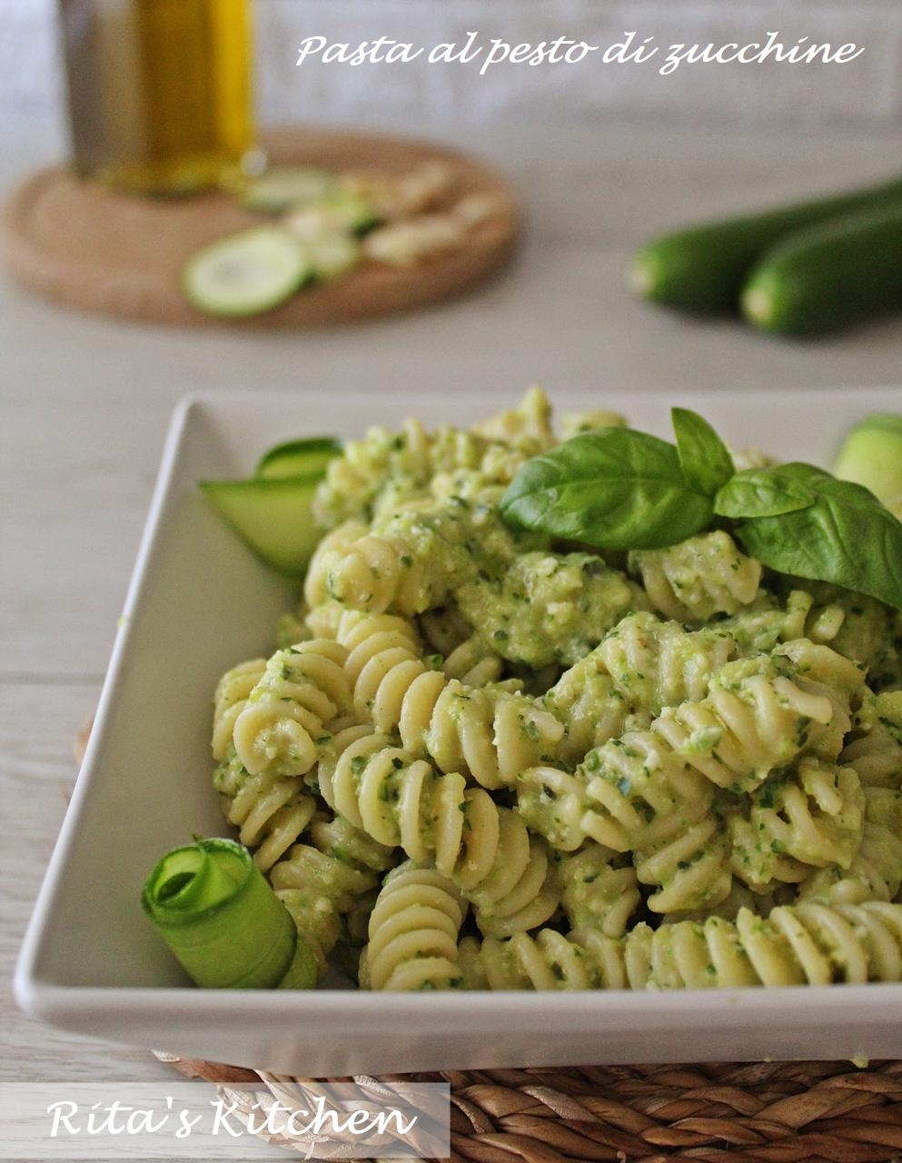 pasta al pesto di zucchine