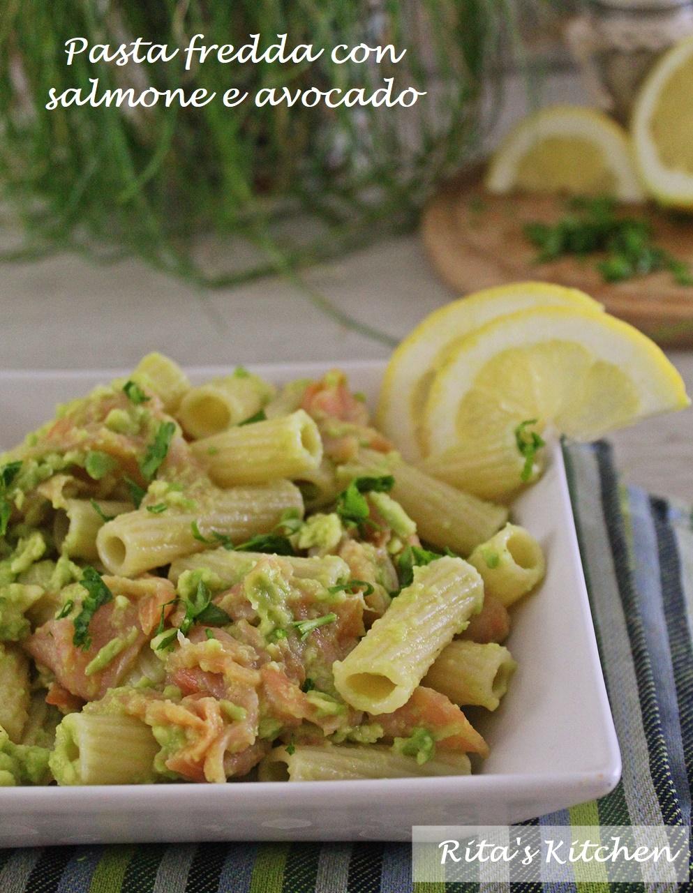pasta fredda con salmone e avocado
