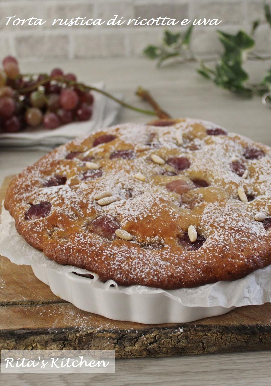 torta rustica di ricotta e uva
