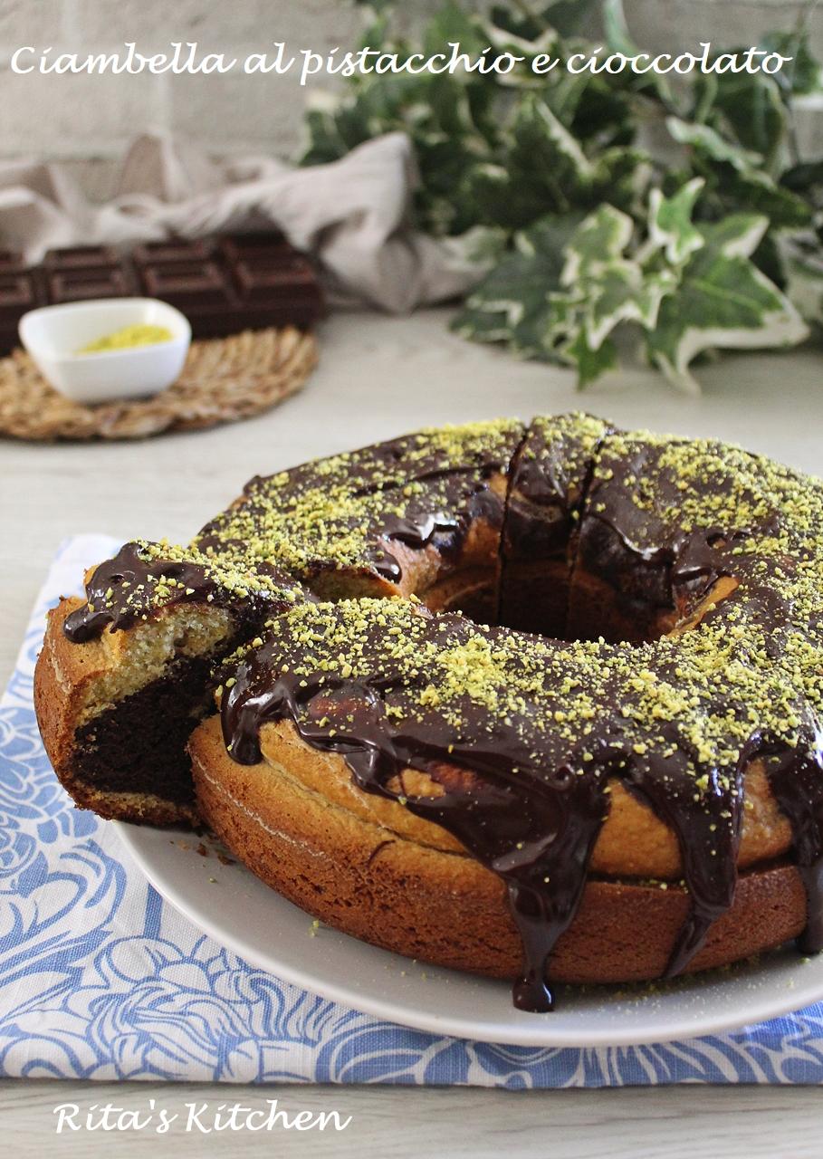 ciambella al cioccolato e pistacchi