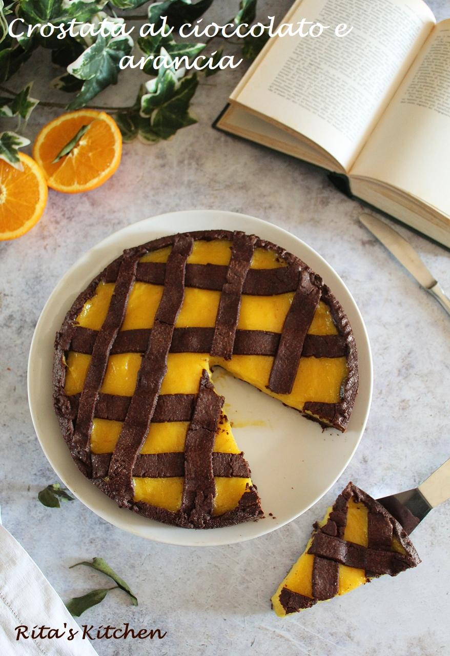 crostata al cioccolato e arancia