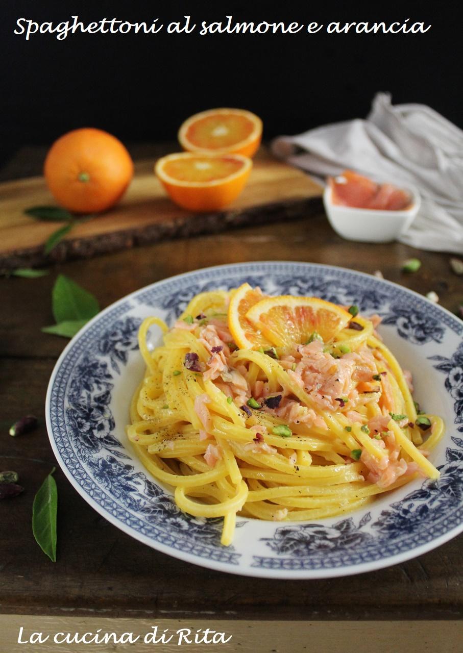tonnarelli al salmone e arancia